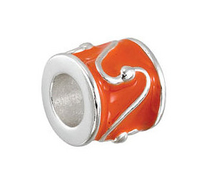 Kera™ Orange Enamel Bead