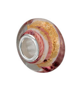 Kera™ Pink & Gold Glass Bead