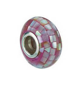 Kera™ Purple Mosaic Mother of Pearl Bead