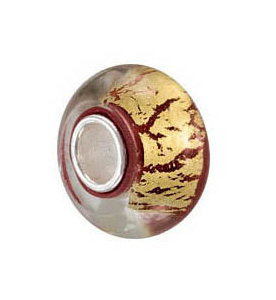 Kera™ Red & Gold Glass Bead