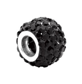 Kera™ Roundel Bead with Pave Jet Crystals