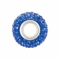 Kera™ Sapphire-Colored Crystal Pave' Bead - click to Enlarge