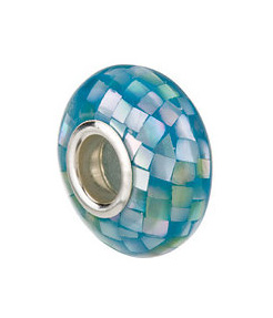 Kera™ Sky Blue Mosaic Mother of Pearl Bead