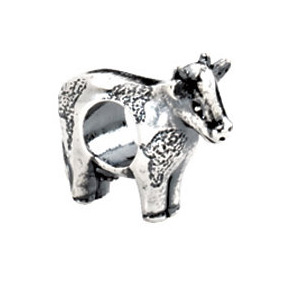 Kera™ Sterling Silver Cow Bead