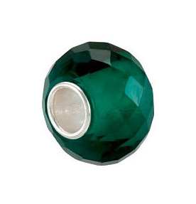 Kera™ Teal Faceted Glass Bead