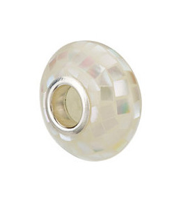 Kera™ White Mosaic Mother of Pearl Bead