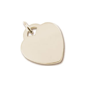 Large Heart Tag Charm by Forever Charms - Personalized