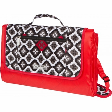 Let's Royal Ruby Montage Play Mat Diaper Bag by Bumble Bags