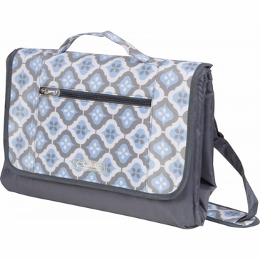 Let's Sky Blue Montage Play Mat Diaper Bag by Bumble Bags