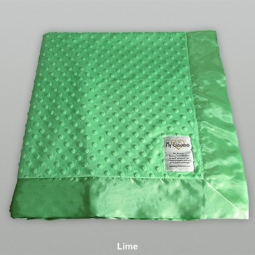 Lime Dot Velour Blanket by My Blankee