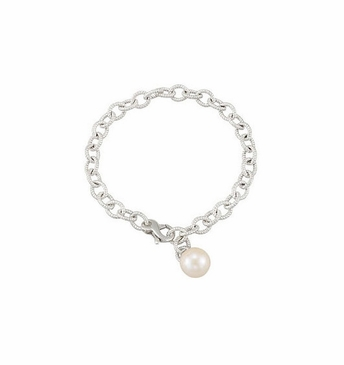 Linked Chain Bracelet with Pearl Accent