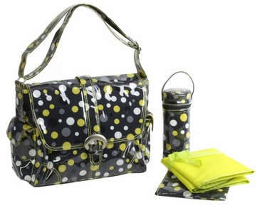 Lollidots - Laminated Buckle Diaper Bag by Kalencom