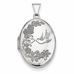 Love Doves Oval Locket