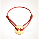 Love Link Circle Charm Bracelet - Gold Plated