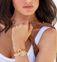 Love Link Circle Charm Bracelet - Gold Plated - click to Enlarge