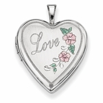 Love Locket with Flowers