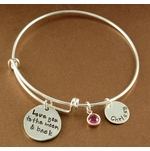 """I Love You to the Moon and Back"" Bangle Bracelet - Personalized"