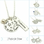 """""""I Love You To the Moon & Back"""" Necklace with Your Children's Names - click to Enlarge"""
