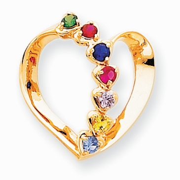 Loving Hearts Family Birthstone Pendant