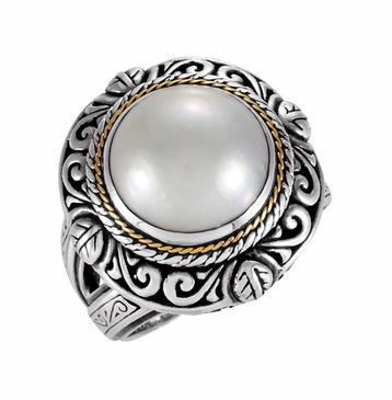 Mabe Cultured Gray Pearl Ring