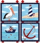 Maritime Lighthouse Stretched Art by Dish and Spoon - click to Enlarge
