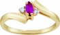 Marquise Birthstone and Diamond Journey Ring - click to Enlarge