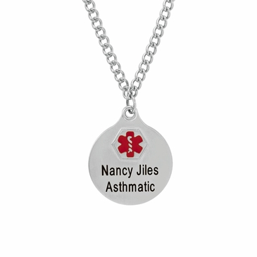 Medical Alert Charm Necklace - Personalized