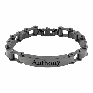 Men's Chain Link Name Bracelet