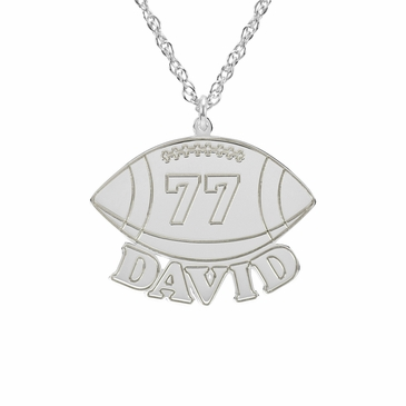 Men's Football Necklace - Personalized
