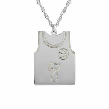 Men's Sports Pendant Necklace with Personalized Jersey