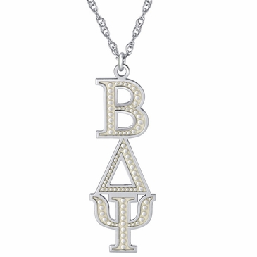 Mens Linear Fraternity Letters Necklace