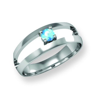 Modern Polished Family Ring