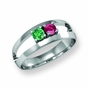 Modern Polished Family Ring - click to Enlarge