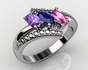 Mom and Family Birthstone Ring - click to Enlarge