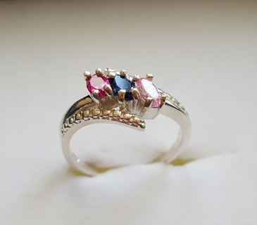 Mom and Family Birthstone Ring