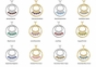 Mom's Birthstone Charm Circle Necklace - click to Enlarge