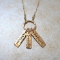 Mom's Gold Name Tag Necklace - click to Enlarge