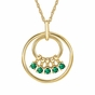 Mom's May Birthstone Charm Circle Necklace - click to Enlarge