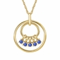 Mom's September Birthstone Charm Circle Necklace - click to Enlarge