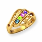 """Mom"" Swirls Family Birthstone Ring - click to Enlarge"