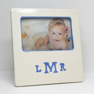 Monogrammed Baby Picture Frame