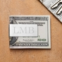 Monogrammed Silver Money Clip - click to Enlarge