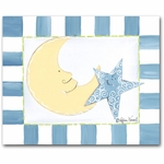 Moon & Stars Canvas Wall Art