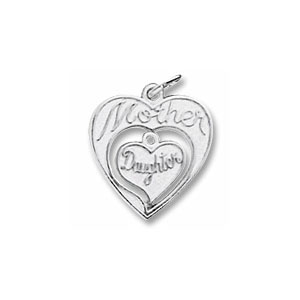 Mother and Daughter Nested Charm by Forever Charms