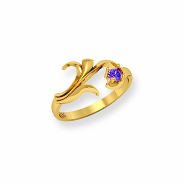 Mother's Birthstone Leaf Ring