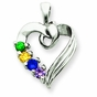 Mother's Heart Family Pendant - click to Enlarge