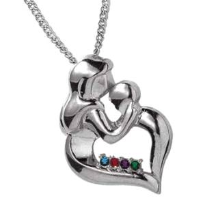 Mother's Kiss Pendant Necklace