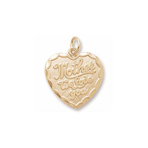 Mother Solid Heart Charm by Forever Charms - Personalized