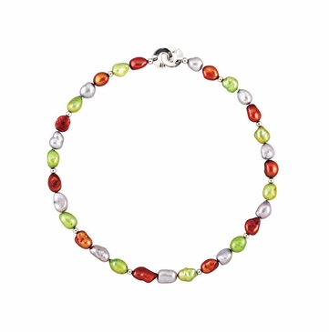 Multi-Color Necklace/Bracelet with Natural Pearl