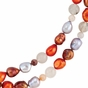 Multi-Gemstone Decorated Bracelet/Necklace - Sterling Silver - click to Enlarge